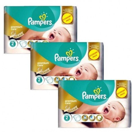 Mega pack 132 Couches Pampers New Baby Premium Care taille 2 sur 123 Couches