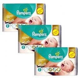 Giga pack 220 Couches Pampers New Baby Premium Care taille 2
