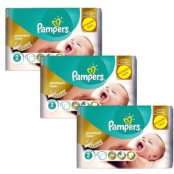 Maxi giga pack 308 Couches Pampers New Baby Premium Care taille 2