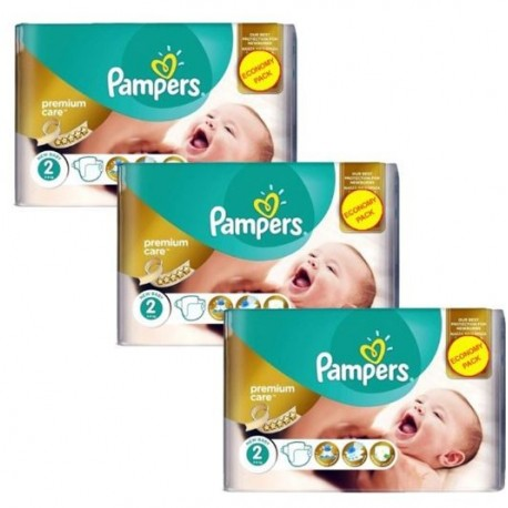 Maxi giga pack 352 Couches Pampers New Baby Premium Care taille 2 sur 123 Couches