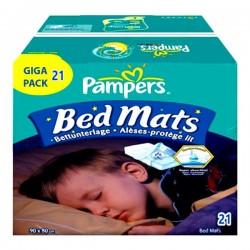 Pack économique 21 Alèses de lits de Pampers taille 90X80cm sur 123 Couches