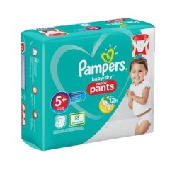 Pack 48 Couches Pampers Baby Dry Pants taille 5+ sur 123 Couches