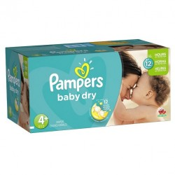 Mega pack 186 Couches Pampers Baby Dry taille 4+