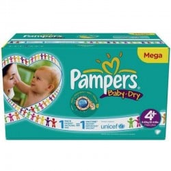 Maxi mega pack 434 Couches Pampers Baby Dry taille 4+