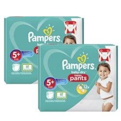 Mega pack 144 Couches Pampers Baby Dry Pants taille 5+