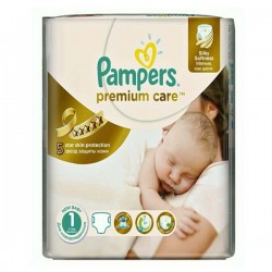 Pack de 33 Couches Pampers Premium Care taille 1 sur 123 Couches
