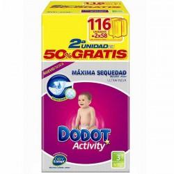 Pack 116 Couches de Dodot Activity de taille 3 sur 123 Couches