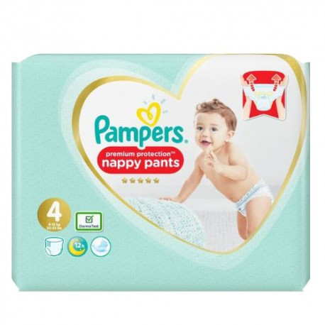 Pack 19 Couches Pampers Premium Protection Pants taille 4 sur 123 Couches