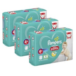 Pack 70 Couches Pampers Baby Dry Pants taille 4+ sur 123 Couches