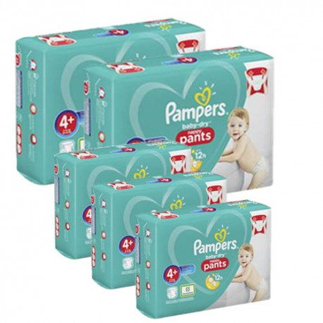 Giga pack 245 Couches Pampers Baby Dry Pants taille 4+ sur 123 Couches