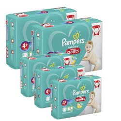 Pack jumeaux 525 Couches Pampers Baby Dry Pants taille 4+ sur 123 Couches