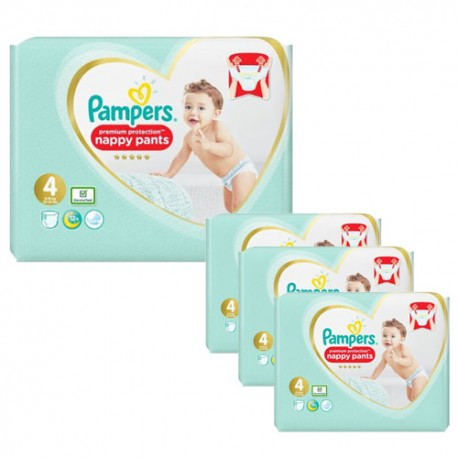 Pack 38 Couches Pampers Premium Protection Pants taille 4 sur 123 Couches