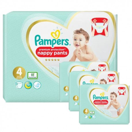 Giga pack 285 Couches Pampers Premium Protection Pants taille 4 sur 123 Couches