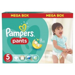 Mega pack 105 Couches Pampers Baby Dry Pants taille 5 sur 123 Couches