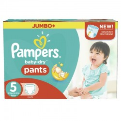 Giga pack 240 Couches Pampers Baby Dry Pants taille 5 sur 123 Couches