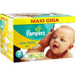 Pack jumeaux 800 Couches Pampers New Baby Dry taille 2