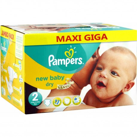 Pack jumeaux 800 Couches Pampers New Baby Dry taille 2 sur 123 Couches