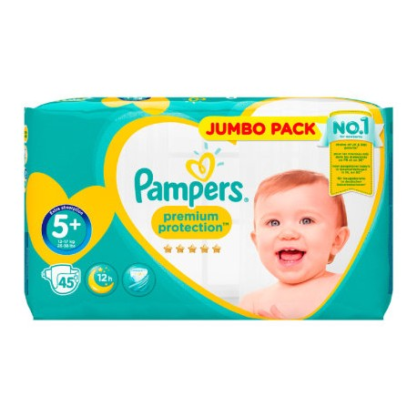 20 Couches Pampers New Baby Premium Protection taille 5+ sur 123 Couches