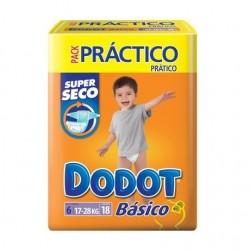 Pack de 18 Couches de la marque Dodot Basic de taille 6 sur 123 Couches
