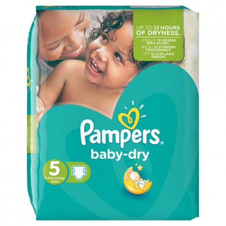 Couches Pampers Baby Dry Taille 5 En Promotion 54 Couches Sur