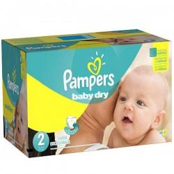Maxi Pack de 420 Couches Pampers de la gamme Baby Dry de taille 2 sur 123 Couches