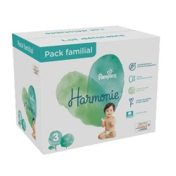 Giga pack 264 Couches Pampers Harmonie taille 3 sur 123 Couches