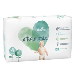 Pack 57 Couches Pampers Harmonie taille 4 sur 123 Couches