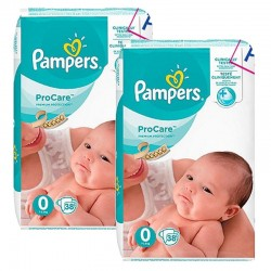 Mega pack 114 Couches Pampers ProCare Premium protection taille 0 sur 123 Couches
