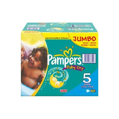 Giga pack 207 Couches Pampers Baby Dry taille 5 sur 123 Couches