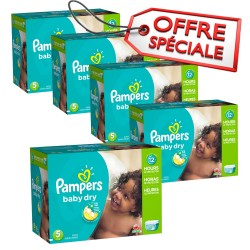 Giga pack 230 Couches Pampers Baby Dry taille 5