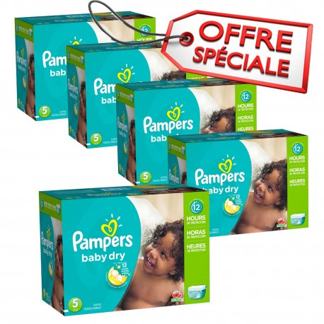 Giga pack 230 Couches Pampers Baby Dry taille 5 sur 123 Couches