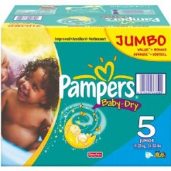Giga pack 253 Couches Pampers Baby Dry taille 5
