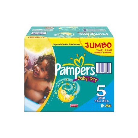 Giga pack 253 Couches Pampers Baby Dry taille 5 sur 123 Couches