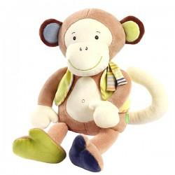 Doudou assis de Babysun Singe Monkey Donkey sur 123 Couches