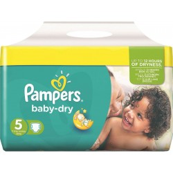 Pack de 30 Couches Pampers de la gamme Baby Dry taille 5 sur 123 Couches