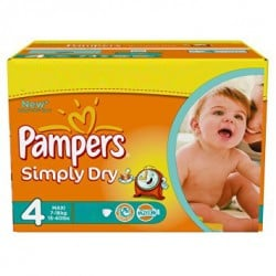 300 Couches Pampers Active Fit taille 3 sur 123 Couches