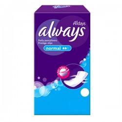 Pack de 30 Serviettes hygiéniques Always Pantiliners taille Normal sur 123 Couches