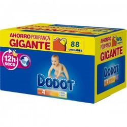 Pack d'une quantité de 88 Couches Dodot de la gamme Regular de taille 4 sur 123 Couches