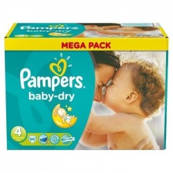 Pack 86 Couches de Pampers Baby Dry de taille 4 sur 123 Couches