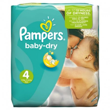 Pack 42 Couches Pampers de la gamme Baby Dry taille 4 sur 123 Couches
