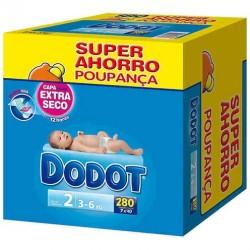 Pack de 280 Couches de Dodot 3D de taille 2 sur 123 Couches