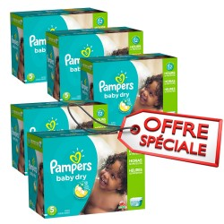 Maxi giga pack 322 Couches Pampers Baby Dry taille 5