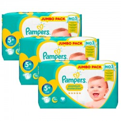 Giga pack 220 Couches Pampers New Baby Premium Protection taille 5+ sur 123 Couches
