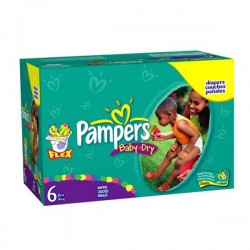 Maxi giga pack 380 Couches Pampers Baby Dry taille 6 sur 123 Couches