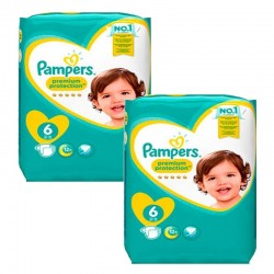 Mega pack 186 Couches Pampers New Baby Premium Protection taille 6 sur 123 Couches