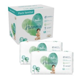 Mega pack 132 Couches Pampers Harmonie taille 3 sur 123 Couches