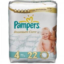 Pack de 52 Couches de la marque Pampers Premium Care taille 4 sur 123 Couches