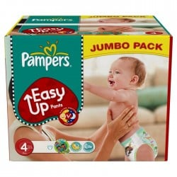 Pack 60 Couches Pampers Easy Up de taille 4 sur 123 Couches
