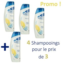 Pack 4 Shampooings Head & Shoulders Antipelliculaire Citrus Fresh - 4 au prix de 3 sur 123 Couches