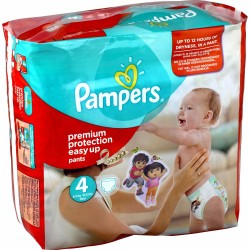 Maxi Pack 180 Couches Pampers de la gamme Easy Up taille 4 sur 123 Couches